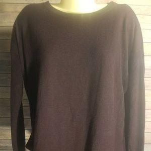 Ann Taylor Loft Maroon Long Sleeve Sweater